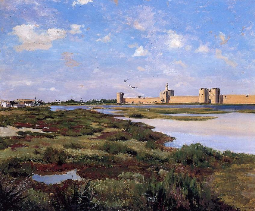 famous painting Aigues-Mortes of Jean Frederic Bazille