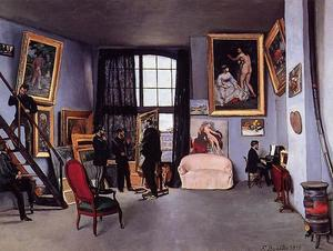 Jean Frederic Bazille - The Studio on the Rue La Condamine