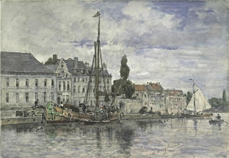 famous painting Canal in Bruxelles of Johan Barthold Jongkind
