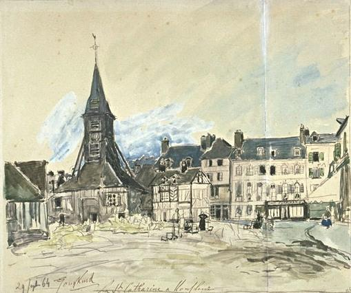 famous painting Church of Honfleur of Johan Barthold Jongkind
