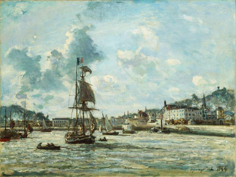 famous painting Entrance to the Port of Honfleur of Johan Barthold Jongkind
