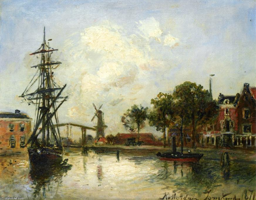 famous painting Entry to the Port, Rotterdam of Johan Barthold Jongkind