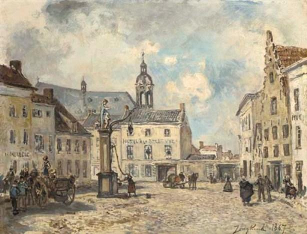 famous painting Place in Antwerp of Johan Barthold Jongkind