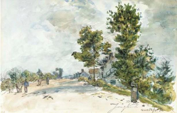 famous painting Route de Nevers of Johan Barthold Jongkind