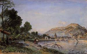 Johan Barthold Jongkind - The Banks of the Isere at Grenoble in Spring