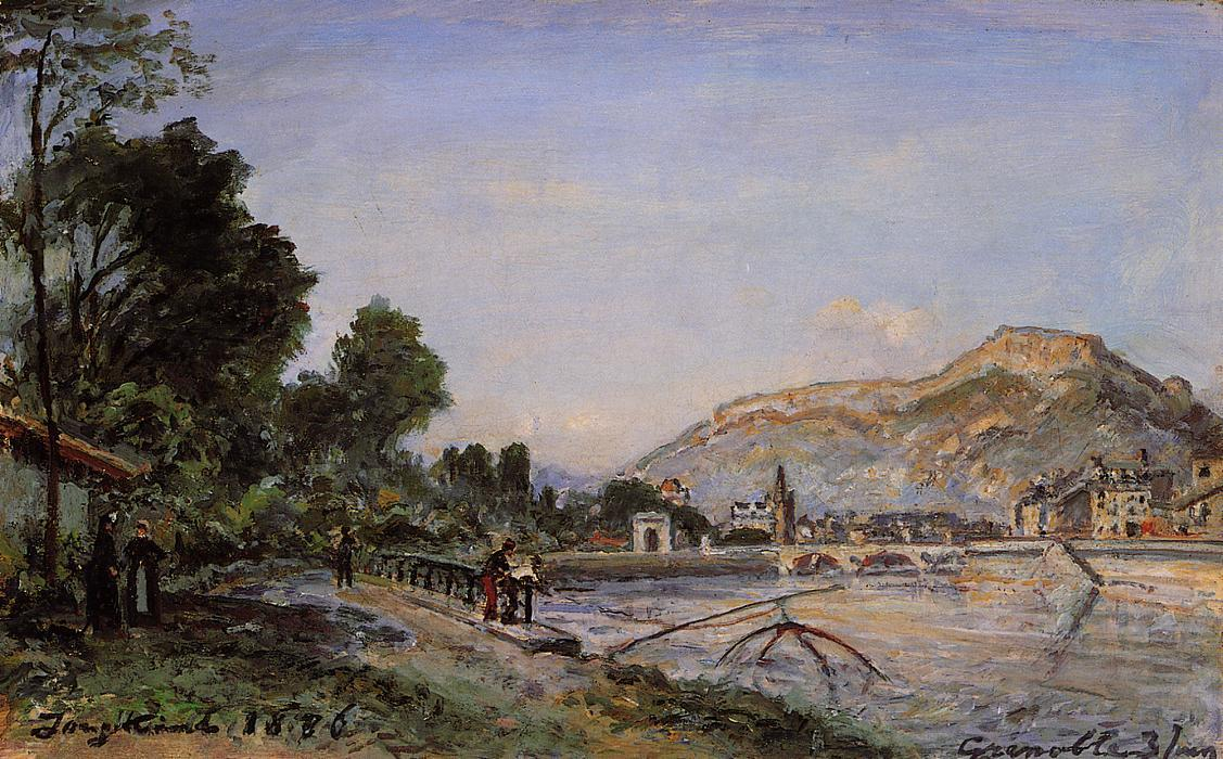 famous painting The Banks of the Isere at Grenoble in Spring of Johan Barthold Jongkind