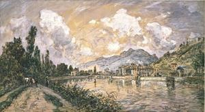 Johan Barthold Jongkind - The green island in Grenoble