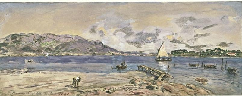 famous painting The harbor of Toulon of Johan Barthold Jongkind