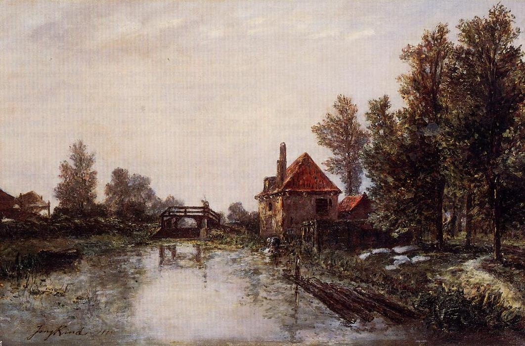 famous painting The Lock of Johan Barthold Jongkind