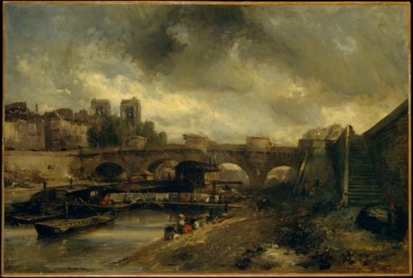 famous painting The Pont Neuf of Johan Barthold Jongkind