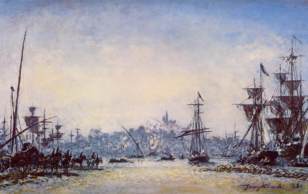 famous painting The Port of Marseille of Johan Barthold Jongkind