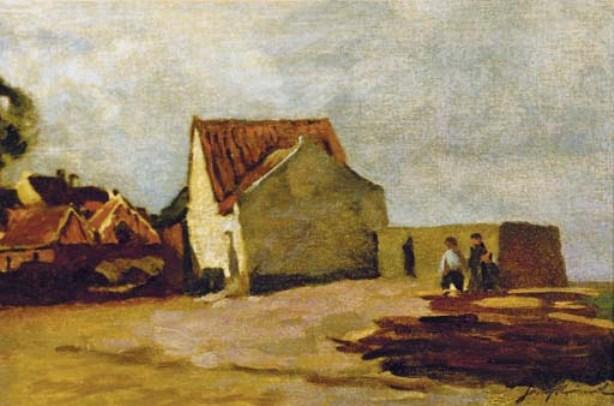 famous painting The Seaside Cottage of Johan Barthold Jongkind
