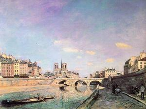 Johan Barthold Jongkind - The Seine and Notre-Dame in Paris