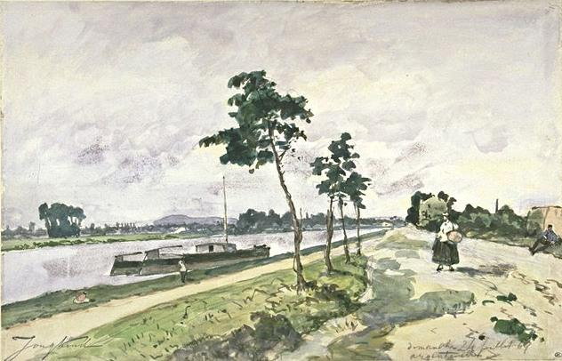 famous painting The Seine at Argenteuil of Johan Barthold Jongkind
