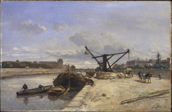 famous painting View from the Quai d'Orsay of Johan Barthold Jongkind