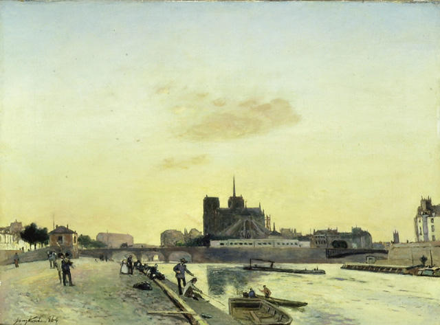 famous painting View of Notre-Dame, Paris of Johan Barthold Jongkind