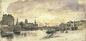 Johan Barthold Jongkind - View of Paris, docks