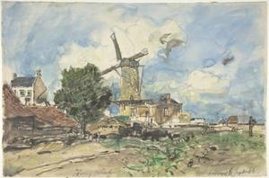 Johan Barthold Jongkind - Wind Mill at Antwerp