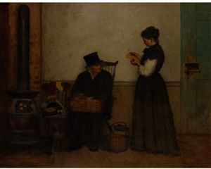 Jonathan Eastman Johnson - The Peddler (Nantucket)