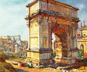 Jorge Apperley (George Owen Wynne Apperley) - The Arch of Titus, Rome