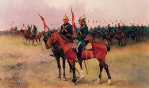 Josep Cusachs I - Lancers In Maneuvers