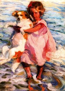 José Mongrell Torrent - Girl With Dog