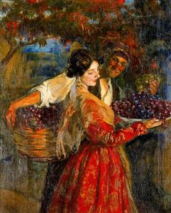 José Mongrell Torrent - Picking Grapes