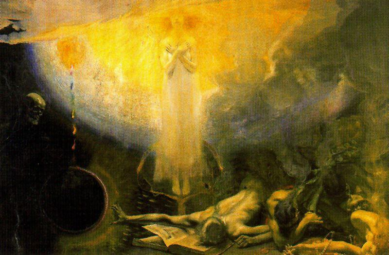 famous painting I Commandment Of The Decalogue. Matter Dies, Not The Spirit of José Villegas Cordero