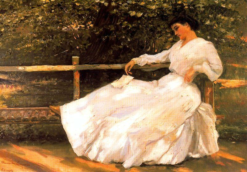 famous painting Women In The Garden of José Villegas Cordero