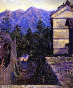 Lilla Cabot Perry - Mountain Village, Japan