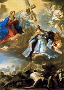 Luca Giordano - San Gennaro intercedes with the Virgin, Christ and God the Father of the plague of 1656