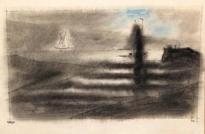 Lyonel Feininger - At the Mouth of the River Rega, Baltic