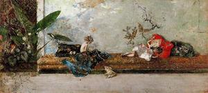 Mariano Fortuny - The children of the painter in the Japanese room