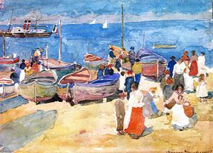 Maurice Brazil Prendergast - At the Shore (Capri)