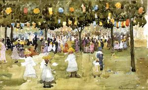 Maurice Brazil Prendergast - Central Park, New York City, July 4th