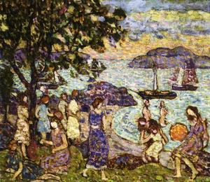 Maurice Brazil Prendergast - Crepuscule (aka Along the Shore or Beach)