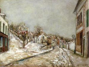 Maurice Utrillo - View of Pontoise (aka Snow Effect)