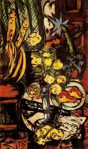 Max Beckmann - Still life with yellow roses