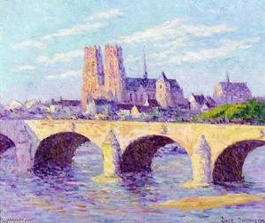 Maximilien Luce - Orleans, View of the Pont Georges V and the Cathedral Sainte Croix
