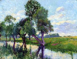 Maximilien Luce - The Banks of the Cure