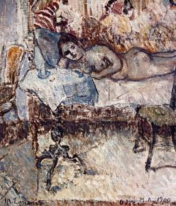 Mikhail Fiodorovich Larionov - Reclining nude