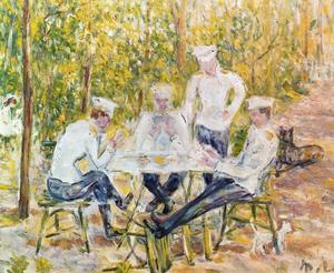 Mikhail Fiodorovich Larionov - Soldiers playing cards