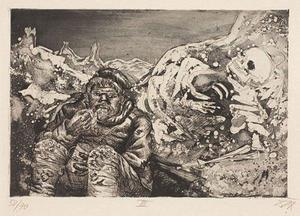 Otto Dix - Mealtime in the Trenches