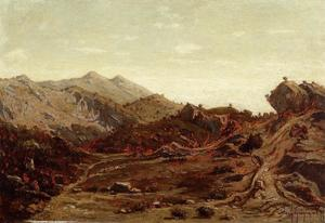 Paul Camille Guigou - The Hills of Saint-Loup