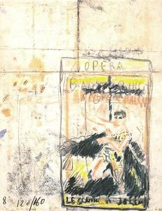 Pierre Bonnard - Project poster for the opera. Legend of Joseph