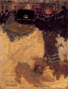 Pierre Bonnard - Scene in the street or Place Clinchy