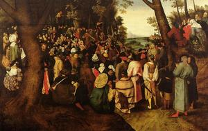 Pieter Bruegel The Younger - A Landscape With Saint John The Baptist Preaching