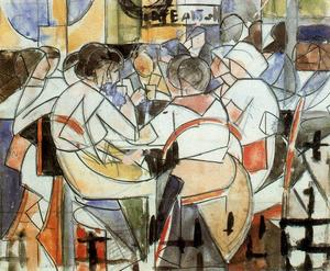 Rafael Barradas - People in the coffee (study)