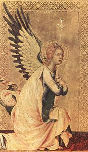 Simone Martini - The Angel of the Annunciation 1