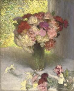George Clausen - Carnations and pinks